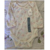 Body manga longa Lacinhos - 0 a 3 meses - Baby Gap