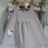 Vestido com forro Hello Kit - 3 a 6 meses - Hello  Kitty