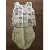 Blusinha de calor + calcinha - 0 a 3 meses - Piu Piu Baby
