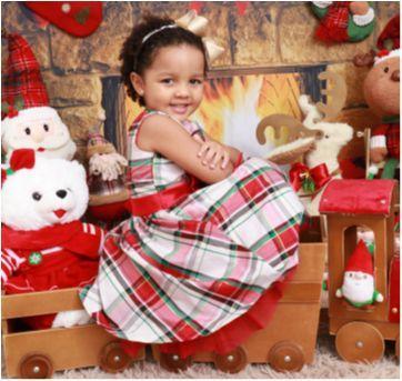 Vestido Clássico - Cores natalina - 4 anos - Gymboree