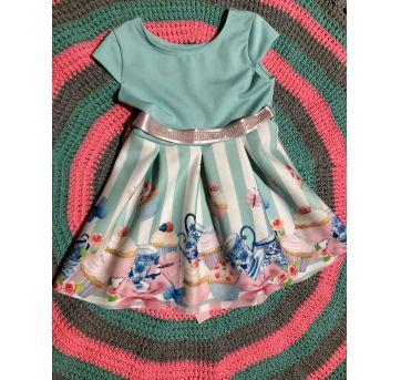 Vestido Princesa - 9 a 12 meses - Tricae