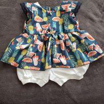 Vestido de frutas - 9 meses - Sem marca