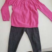 Conjunto calça mais blusa - 1 ano - Baby Gap e Janie and Jack