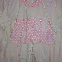 Macacão menina branco e rosa - 9 a 12 meses - Pingo Doce