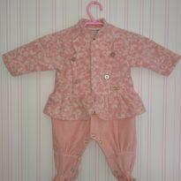 Lindo e chique Macacão Pinoti Baby P - 0 a 3 meses - Pinoti Baby