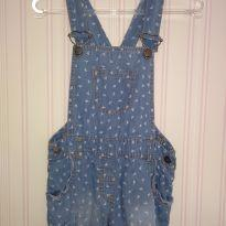 Macacão de verão em jeans - 9 a 12 meses - Topo Mini