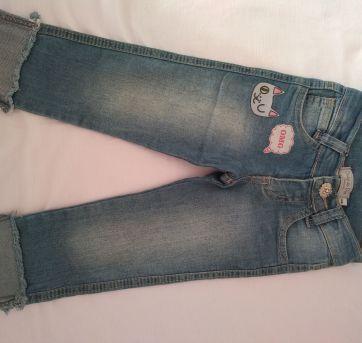 Linda e estilosa calça jeans Clube do Dino Tam 1 - 1 ano - Clube do Dino