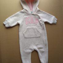 Macacão Baby GAP Original com Zíper Transversal  Tam. 3 a 6M - 3 a 6 meses - Baby Gap