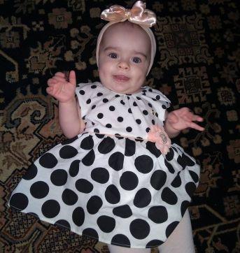 Lindo vestidinho Milon Poá - 9 meses - 9 meses - Milon