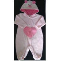 Macacão ursinho com capuz - 6 a 9 meses - Kiko baby
