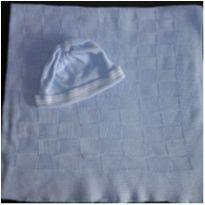 Manta e touca menino - 0 a 3 meses - Pimpolho