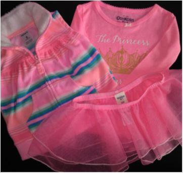 Lindo kit colete Carter`s e blusa e saia OshKosh - 6 meses - 6 meses - Carter`s e OshKosh