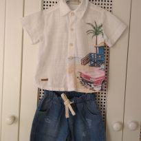 Conjunto de verão Pinoti Baby Kids - Tam 1 a 2 anos - 12 a 18 meses - Pinoti Baby
