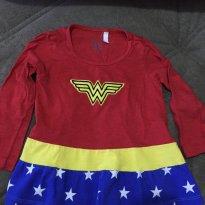 Camiseta Mulher Maravilha - 2 anos - DC Comics