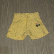 Short-saia amarelo - 1 ano - Popcorn