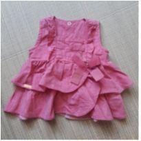 Camiseta com babados rosa - 3 meses - Aconchego do Bebê