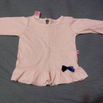 Blusinha de manga longa - 6 a 9 meses - Não informada