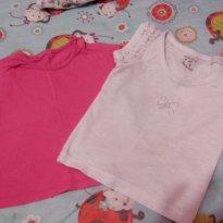 Lote blusas tamanho 1 - 9 a 12 meses - Não informada