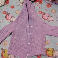 Casaco de lã lilás  tamanho 1 - 9 a 12 meses - Não informada