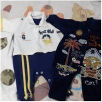 Lote 03 macacão bebê - 0 a 3 meses - Não informada