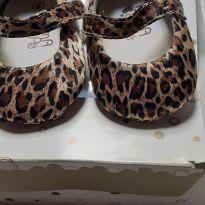 Sapato luxo bebê oncinha - 14 - Não informada