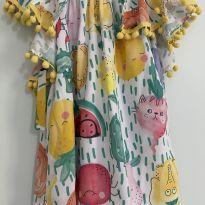 Vestido Mon Sucre bichinhos e pompons - 2 anos - Mon Sucré