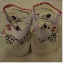 Chinelo Lilica Ripilica baby branco e rosa com elástico - 20 - Lilica Ripilica Baby
