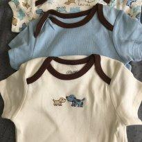 Conjunto de 3  bodies 9 meses Little me - 9 meses - Little Me