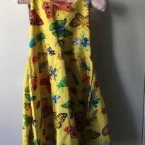 Vestido Fábula 2 anos borboletas amarelo - 2 anos - Fábula