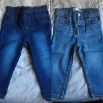 Calça Jeans 12-18 meses para menina- kit com duas peças