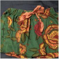 Saia Fábula verde com flores 2 anos - 2 anos - Fábula