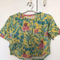 Camiseta fábula 2 anos amarela elefante