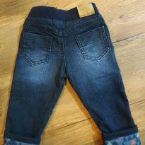 Calça Jeans Sem botão - 9 a 12 meses - Clube do Dino