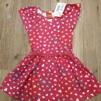 Vestido de coração com tira tam 2, com etiqueta! - 2 anos - Kyly