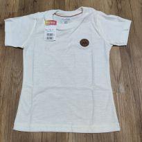 Camiseta Marisol manga curta Tam 3P, nova, com etiqueta - 18 a 24 meses - Marisol
