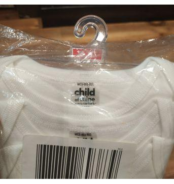 Kit com três bodies manga curta brancos tam 18m - 18 meses - Child of Mine