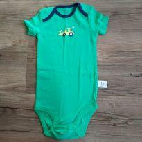 Body carter`s manga curta verde - 18 meses - Carter`s