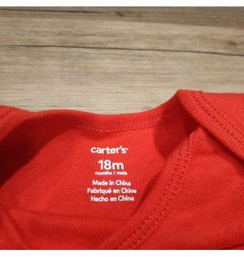 Body manga longa carter`s vermelho 18m - 18 meses - Carter`s