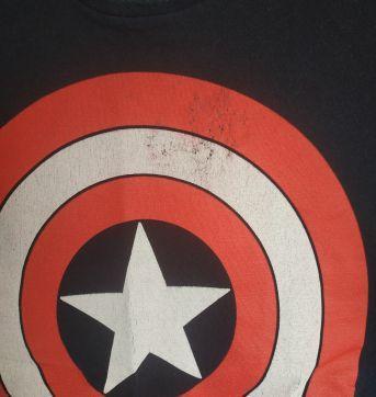 Camiseta manga curta capitão América - 8 anos - MARVEL