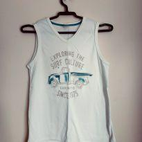 Camiseta regata estampa caminhonete tam 12 - 12 anos - Carinhoso