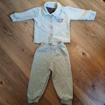 Conjunto com casaquinho e calça, tam P - 0 a 3 meses - Elian