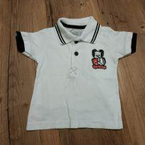 Camiseta pólo manga curta tamanho PB 3- 6 meses - 3 a 6 meses - Tigor Baby