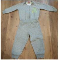 Conjunto moletom, casaco com fecho, calça com punhos - 1 ano - Trenzinho