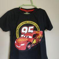 Camiseta manga curta relâmpago McQueen, tam 3, nova - 3 anos - Carros