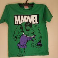 Camiseta manga curta estampa Hulk, tam 6, nova - 6 anos - MARVEL