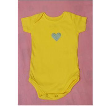 Body manga curta amarelo, tamanho 3-6 meses NOVO - 3 a 6 meses - Santa Maria