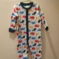 Macacão/pijama bichinhos tam 3 - 3 anos - Kyly