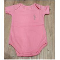 Body manga curta rosa NOVO - 3 a 6 meses - Santa Maria
