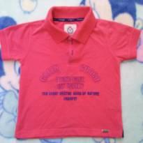 Camisa polo vermelha tam 2 - 2 anos - Charpey