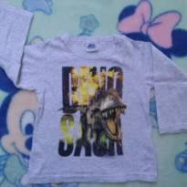 Camiseta manga longa dinossauro 2 anos - 2 anos - Bicho bagunça